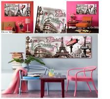 Decor Mi Modern Wall Art Pink Paris Eiffel Towel Decor Romantic French City Pain