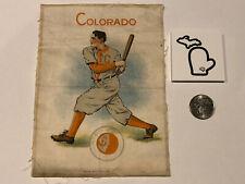 Super Rare! 1910 Large 5x7 S21 Murad Tobacco Silk University of Colorado Batter