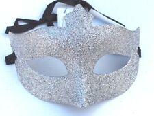 Silver Men Ladies Glitter Venetian Masquerade Party Prom Carnival Eye Mask