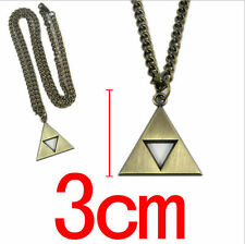 Bronze The Legend of Zelda Triforce Cosplay Alloy Necklace Pendant keychain