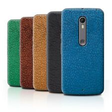 Back Case/Cover/Skin for Motorola Moto X Pure Edition/Leather Patch Effect