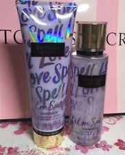 Victoria's Secret Love Spell Shimmer Fragrance Lotion & Mist Full Size Set