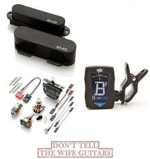 EMG T SET BLACK 2 TELE PICKUPS FT RT (GUITAR TUNER) FENDER TELECASTER REPLACEMET