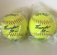 """(X2) DUDLEY THUNDER SY ASA CertIfied 11"""" Slow Pitch Softball 375 Lbs. Max .44"""