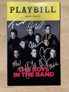 BOYS IN THE BAND Full Cast SIGNED Broadway Playbill! May 2018 AUTOGRAPHED lgbtq+