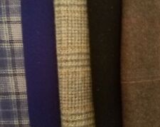 Felted Wool Bundle (Qty 5) assorted sizes Plaid & Solid Colors pkg #B5
