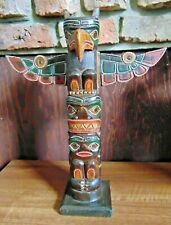 Wooden totem pole carving ~ Hand made & painted in Bali ~ Cool funky ornament