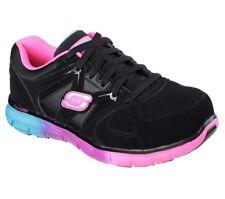 Skechers Women's Casual Work Shoes Synergy Sandlot Alloy Toe 76553 Black Multi