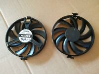 XFX RX470 478 480 570 580 Black Wolf Round Frame Copper Contact Fan FDC10H12S9-C