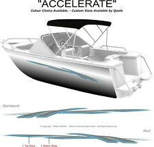 "BOAT GRAPHICS  DECAL STICKER KIT ""ACCELERATE -1800""  MARINE CAST VINYL"
