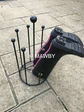 4 PAIR WELLY/BOOT RACK CAROUSEL - BLACK