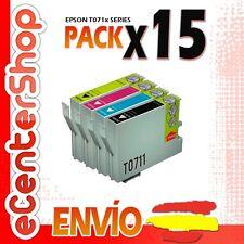 15 Cartuchos T0711 T0712 T0713 T0714 NON-OEM Epson Stylus SX218