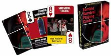 Zombie Survival tips 52 cartas poker juego de naipes horror teax Holdem tarjetas Deck