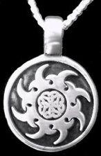 LOOK Celtic Sterling Silver 925 pendant charm Sun Irish Knot