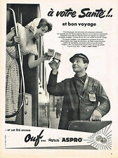 PUBLICITE ADVERTISING  1958   ASPRO  ouf merci..