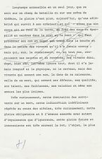 Françoise SAGAN - Tapuscrit signé avec corrections manuscrites