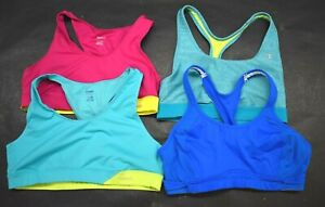 Lot of 4 Womens Sports Bras Reebok & Champion Play Dry Double Dry Athletic XL