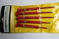 WITTE WITTRON 5-PC PRECISION RED INSULATED TORX DRIVER SET SCREWDRIVER GERMANY