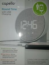 Capello Round Time Table Digital Clock - Gray