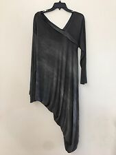 New without Tags XENIA DESIGN Gray Stretchy Asymmetrical Hem Dress Size X-Large