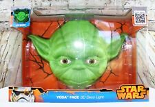 Star Wars Disney Yoda Face 3D Deco LED Light Cracked Sticker New Sealed