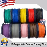 18 Gauge AWG 10 - 400' FT. Primary Remote Wire Stranded Copper Clad Aluminum LOT