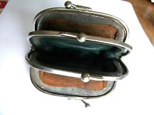 Vintage leather three section coin purse