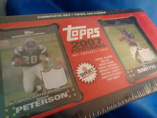 2007 TOPPS FOOTBALL - FACTORY SET (440) CARDS - TARGET EXCLUSIVE - PETERSON (RC)