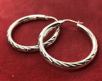 Vintage Sterling Silver Earrings 925 Thailand FAS Hoops