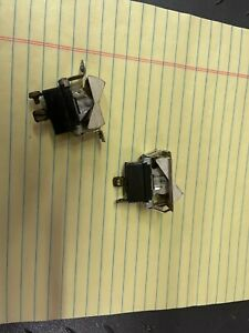 vintage antique cole hersee  spst studebaker rocker switches one pair