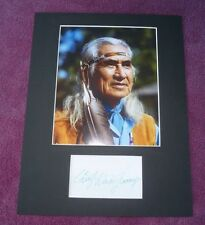 CHIEF DAN GEORGE LITTLE BIG MAN THE OUTLAW JOSEY WALES RARE AUTOGRAPHED w/COA
