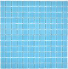 Mosaico Piastrella vetro traslucido Cristallo azzurro piscina 63-0402 | 1 foglio