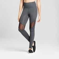 NEW Women's Premium High Waist Mesh Leggings - Charcoal Heather, Size: Large