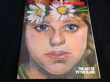 80s MAGAZINE - ARTICLES INC - ART OF PETER BLAKE - 1983