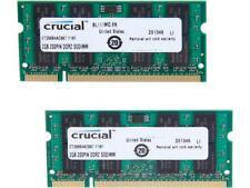 Crucial 4GB (2 x 2GB) 200-Pin DDR2 SO-DIMM DDR2 667 (PC2 5300) Laptop Memory