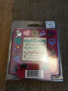 Personal Stamp Exchange PSX Holidays 12 Teeny Weeny Rubber Stamps
