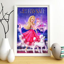 BARBIE PRINCESS Personalised Poster A4 Print Wall Art Any Name✔ Fast Delivery✔