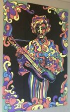 Jimi Hendrix Blacklight Poster Original Vintage Wespac Visual 1969 Fierro