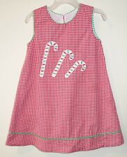 Claire & Charlie Appliqued Candy Canes Holiday Jumper / Dress Size 4