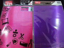 2 Packs Pink/Purple Adhesive Metallic A4 Corrugated Paper Craft DIY FREE POSTAGE