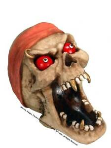 Halloween Menacing Demon Dead Head Human Skull Candy Dish Ashtray 2894-06