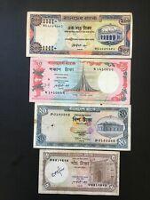 Bangladesh, 1983-2000, 5, 20, 50 & 100 Rupees, P22, P25b, P28 & P31a, F-VF