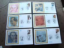 FRANCE - 6 enveloppes 1er jour 11/4/1992 (personnages celebres) (cy37) french