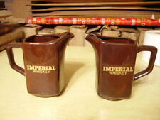 (2) Imperial Whiskey/Water Pitcher Marked Kingwood USA - Vintage