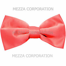 New formal men's pre tied Bow tie solid formal wedding party prom coral
