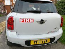 Imán De Fuego Bombero Reflectante servicio de emergencia 300 mm magnética para puertas de coche!