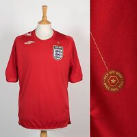 MENS ENGLAND FOOTBALL SHIRT SOCCER JERSEY UMBRO 2006 2008 WORLD CUP AWAY L