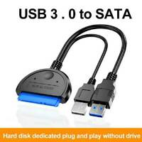 """✅USB 3.0 auf zu SATA Adapter Kabel 15 Pin Für 2,5"""" Festplatte PC Laptop HDD SSD✅"""