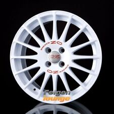 4 Cerchi in lega OZ SUPERTURISMO WRC RACE WHITE + RED famous 6,5x15 et37 4x100 ml6