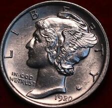 Uncirculated 1920 Philadelphia Mint Silver Mercury Dime